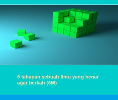 5 tahapan sebuah ilmu yang benar agar berkah (5M)