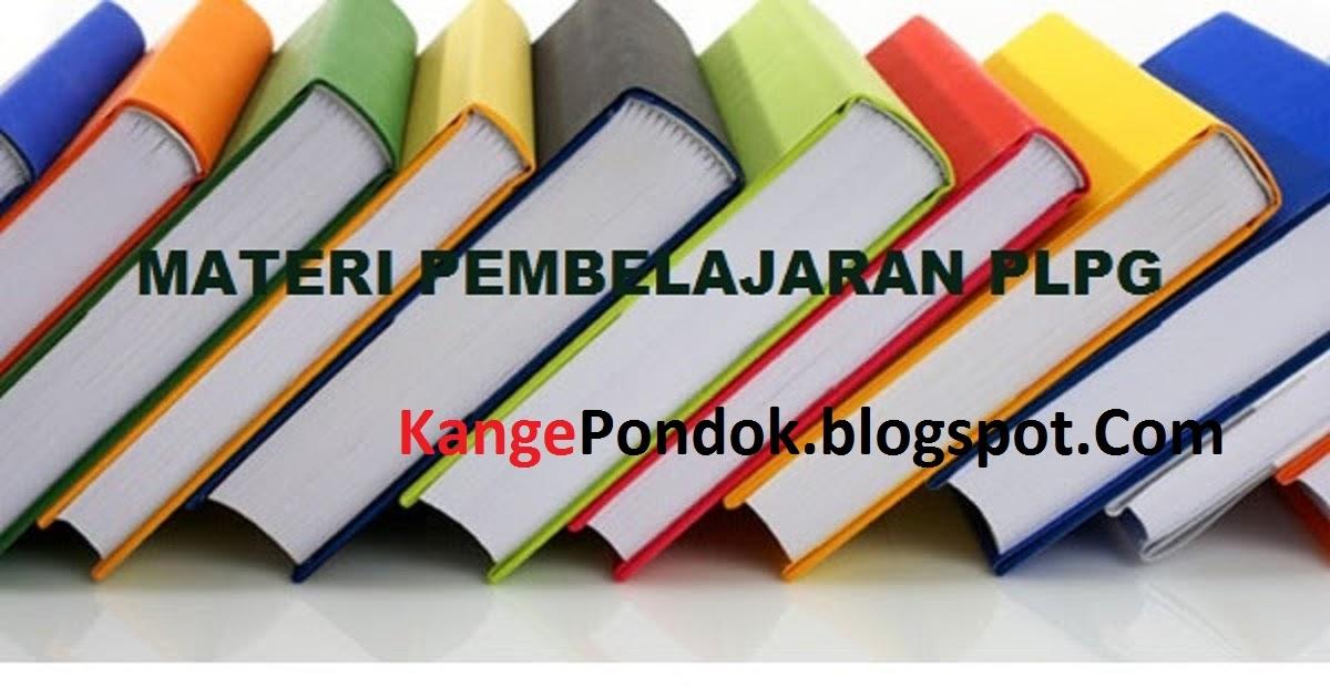 Materi Pedagogik Plpg Sertifikasi Guru 2016