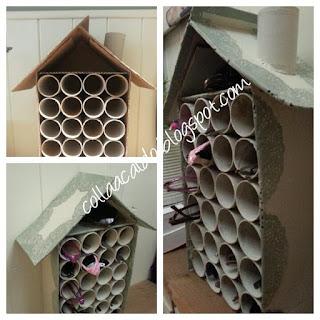 Casetta portatutto cartone rotoli carta igienica