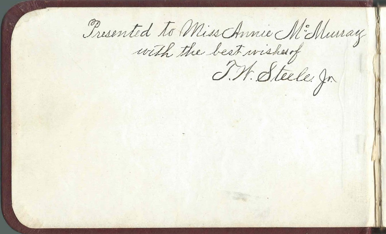 Heirlooms Reunited 1879 1884 Autograph Album Of Annie Laura