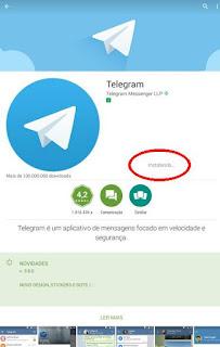 Como instalo o Telegram no celular