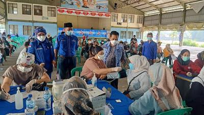 DPC Partai Demokrat Kabupaten Tangerang Sukseskan 1000 Vaksin Kedua Untuk Masyarakat