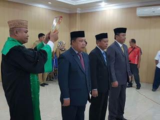 Suasana Pelantikan Sekwan dan Pengukuhan Jabatan Asisten II Sekda Kab Gorontalo
