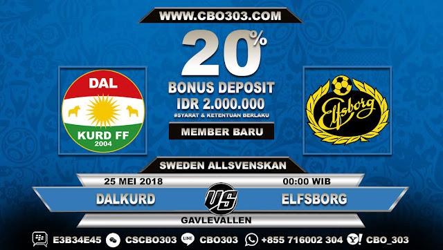 Prediksi Bola Dalkurd VS Elfsborg 25 Mei 2018