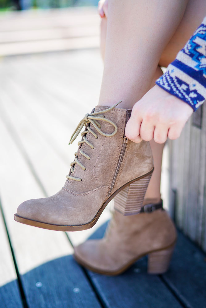 lace up booties, booties for fall, fashion blogger