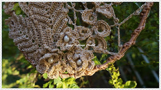 free crochet Irish lace dream catcher pattern