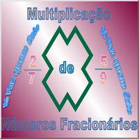 Ilustração estilizada do título da postagem que ensina a fazer Multiplicação de Números Fracionários