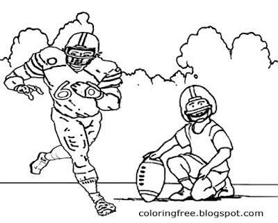 US sports drawing big team home game football printable American coloring pages for boys activities