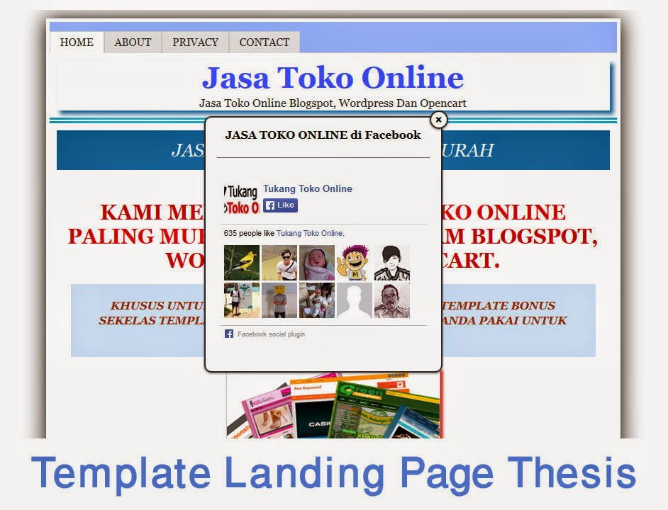 template landing page thesis