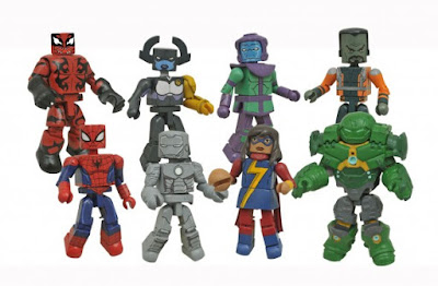 Walgreens Exclusive Marvel Animated Universe Minimates Series 5 - Spider-Girl, Hulk Carnage, Ms. Marvel, Kang the Conqueror, Iron Man Mark II, Proxima Midnight, Hulkbuster Armor Bruce Banner & The Leader