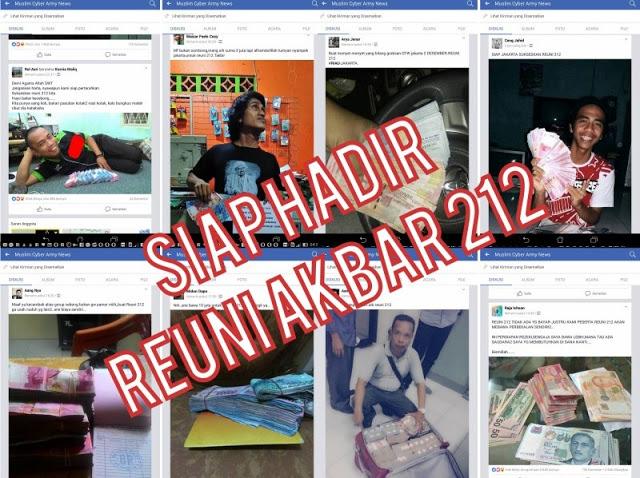 "Netizen ""Pamerin"" Uang Siap Ikut Reuni Akbar 212 Biaya Sendiri, Bikin Cebong Makin Kepanasan"