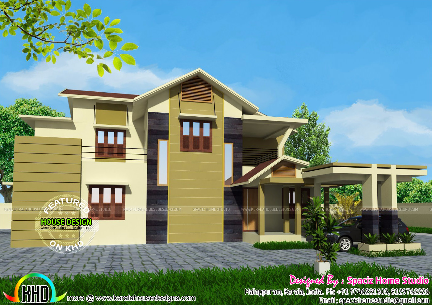 200 sqm modern house plan kerala home design and floor plans for 100 sqm floor area house design