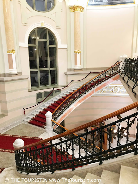 Latvian National Museum of Art. Riga. Interior. Staircase. The Touristin