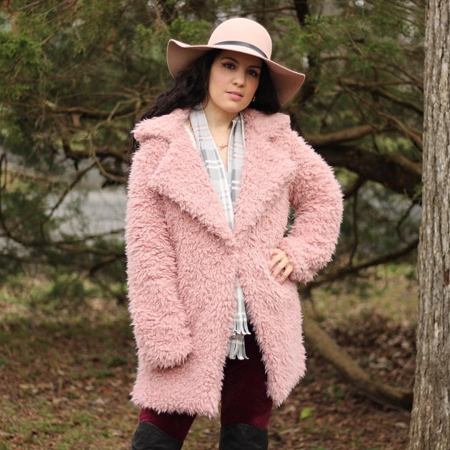 Dresswel Pink Teddy Coat