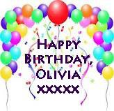 Female Of The Species Happy Birthday Olivia Xxx
