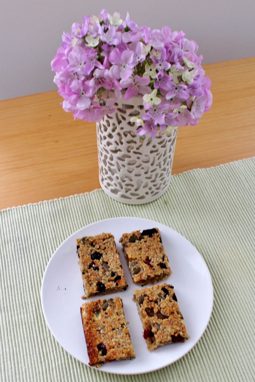 Four homemade flapjacks on a plate