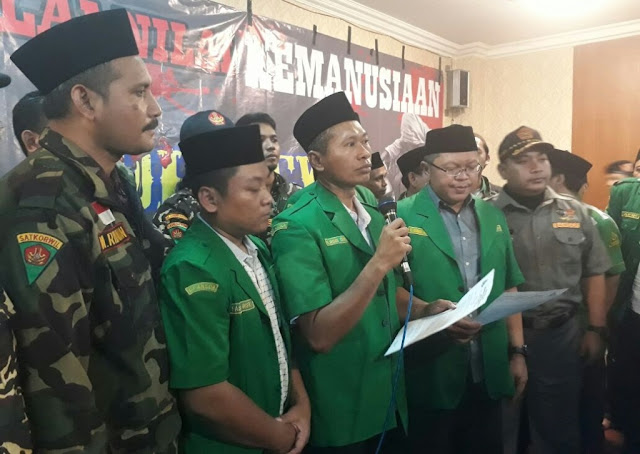 GP Ansor Jatim Shalat Ghaib dan Baca Tahlil untuk Korban Rohingya