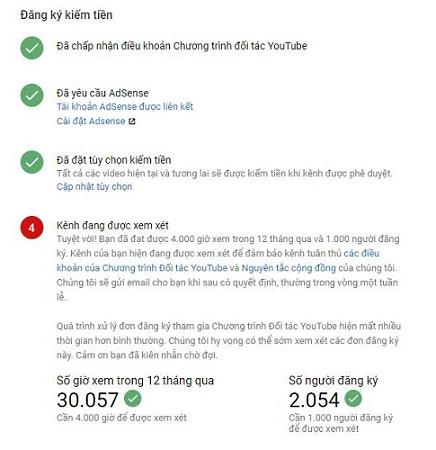4 Bước bật kiếm tiền Youtube