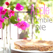 Apple Crumble Pie ( o Tarta crujiente de Manzana)