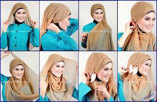 Tutorial cara memakai hijab segi tiga