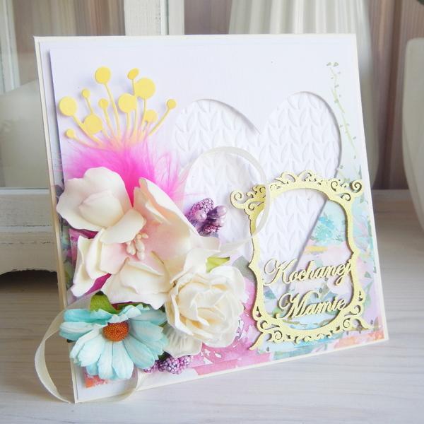 Kartka z kwiatami dla mamy