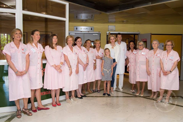 Princess Charlene of Monaco visited maternity ward of Grace Hospital