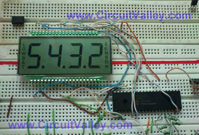 PIC MCU LCD Driver 4 commmon 7 Segmented LCD  & PIC16F917 10