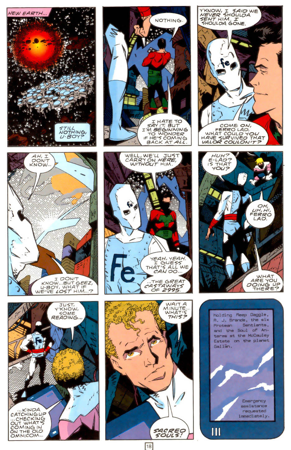 Legion of Super-Heroes (1989) 39 Page 18
