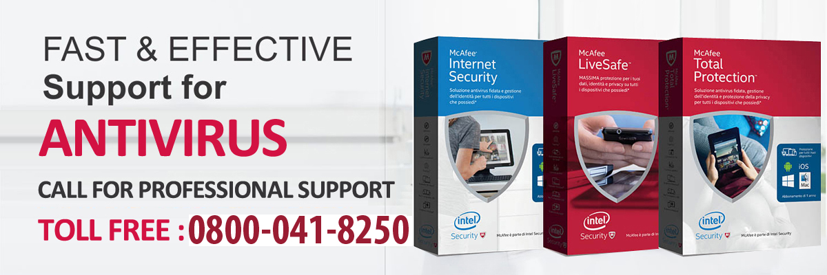 Support for McAfee Antivirus Livesafe Retail Card