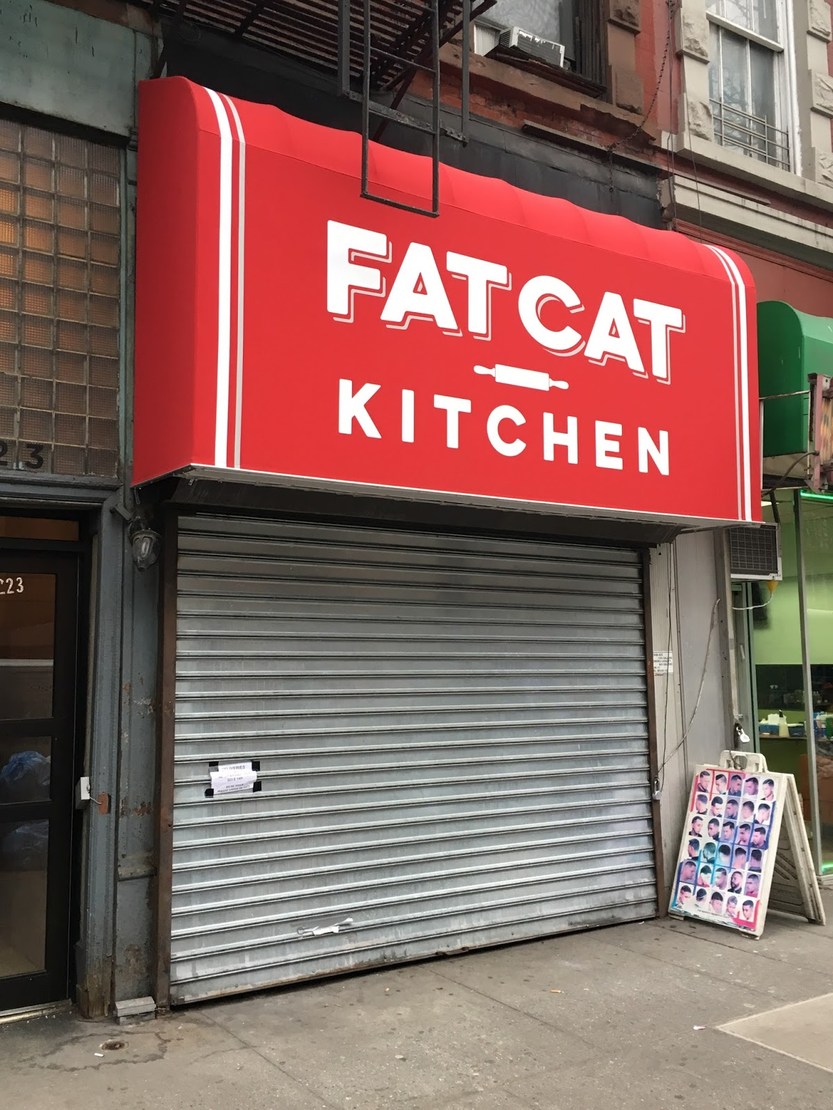 ev grieve: 1st sign of fat cat kitchen on 14th street