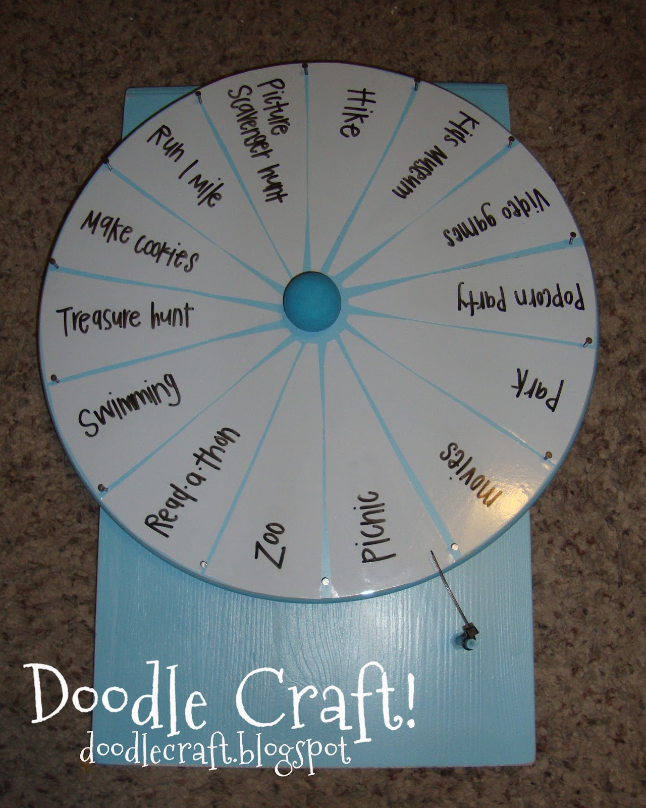 Doodlecraft super spinning prize wheel diy it will be a hit use if for an activity wheel for summer maybe the best child of the week gets to spin it to see what the saturday activity will be solutioingenieria Image collections