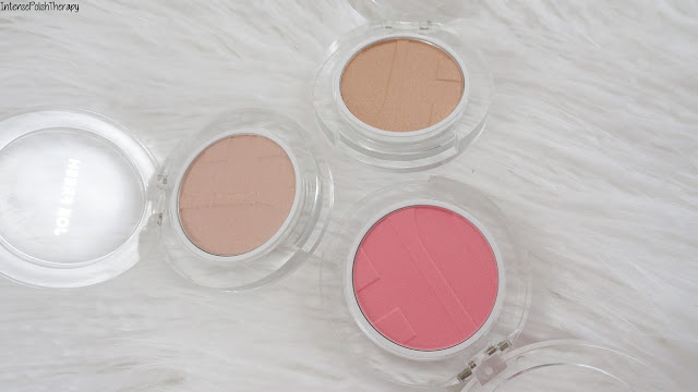 Joe Fresh Blush & HIghlight Powder swatches
