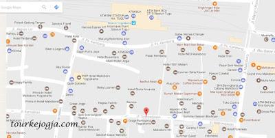 Peta Kawasan Pasar Kembang Jogja