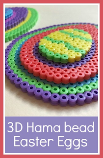 3D layered Hama bead Easter Egg craft for children