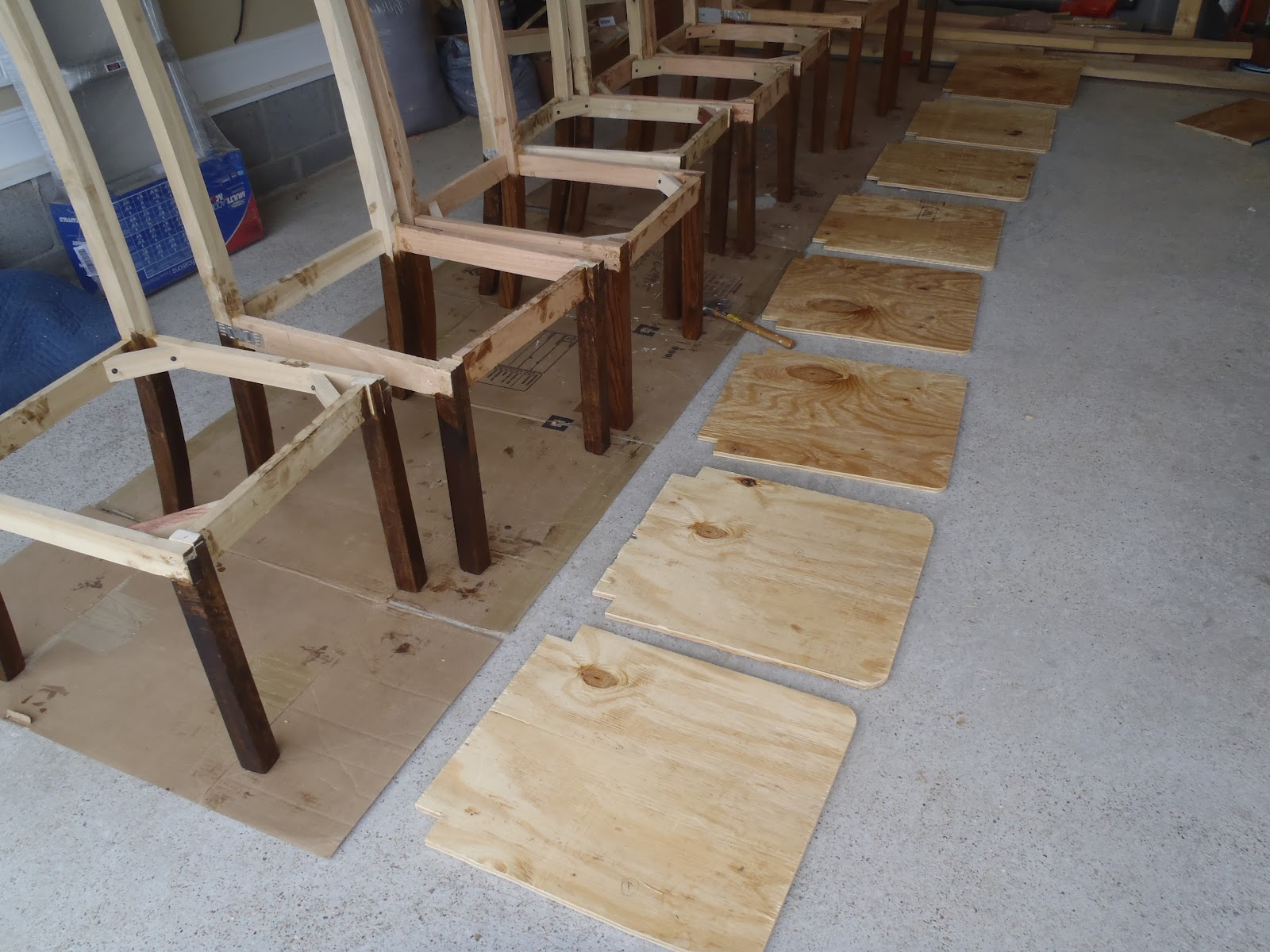how to make a plywood chair video game chairs for adults lazy liz on less dining continued