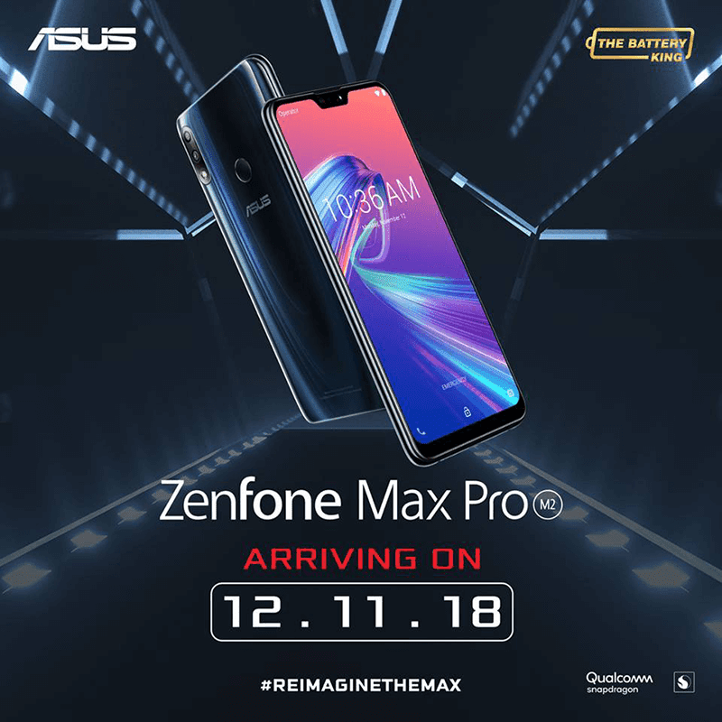ASUS ZenFone Max Pro M2 will launch in PH on December 11