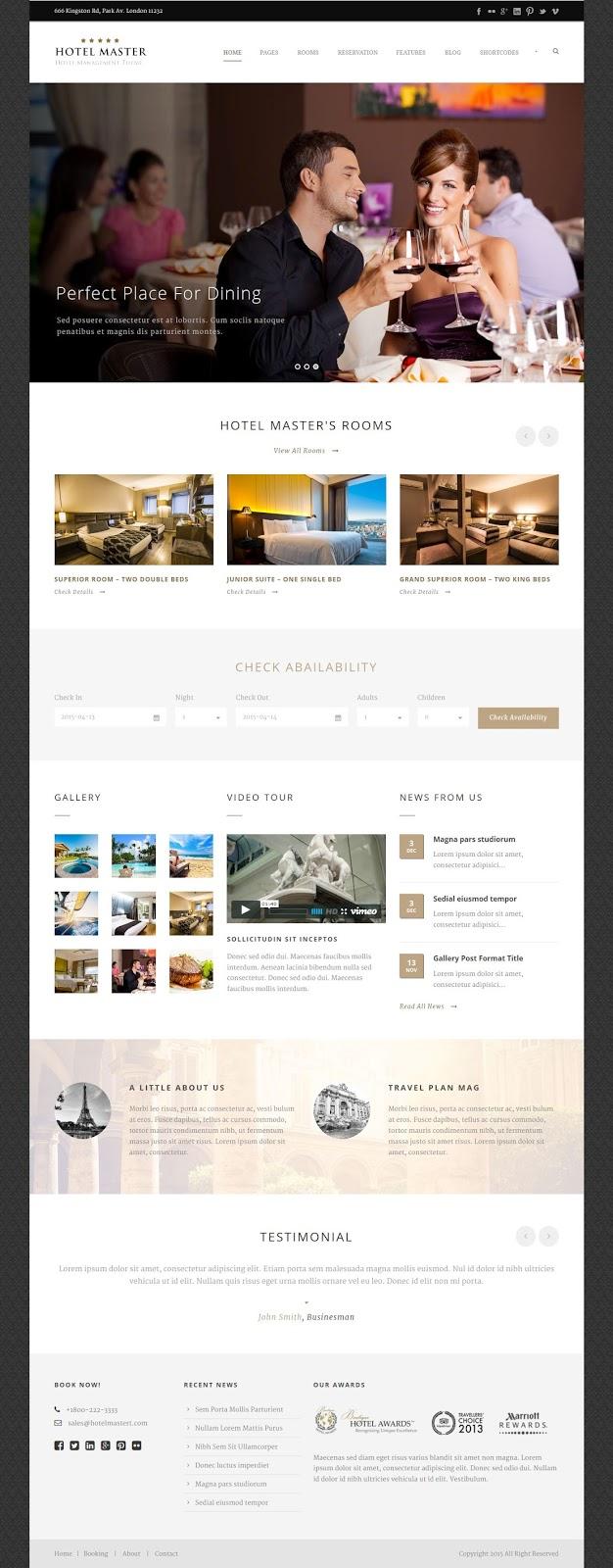 Best Hotel Reservation WordPress Theme
