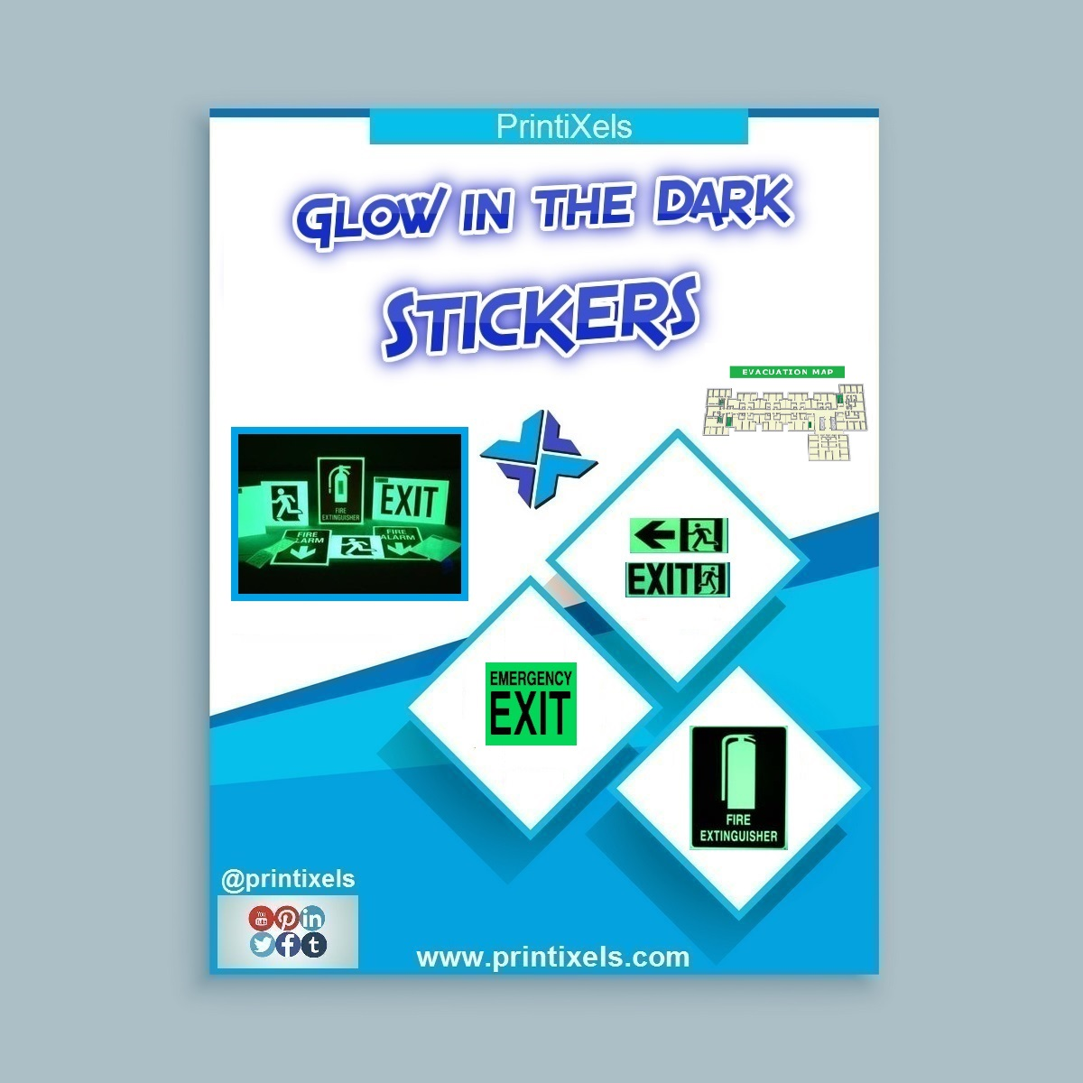 Glow in the Dark Sticker Printing Services | Printixels
