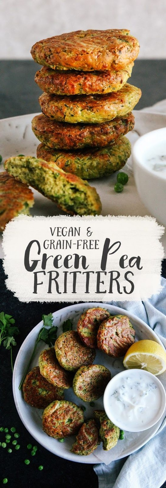 GREEN PEA FRITTERS (VEGAN + GF)
