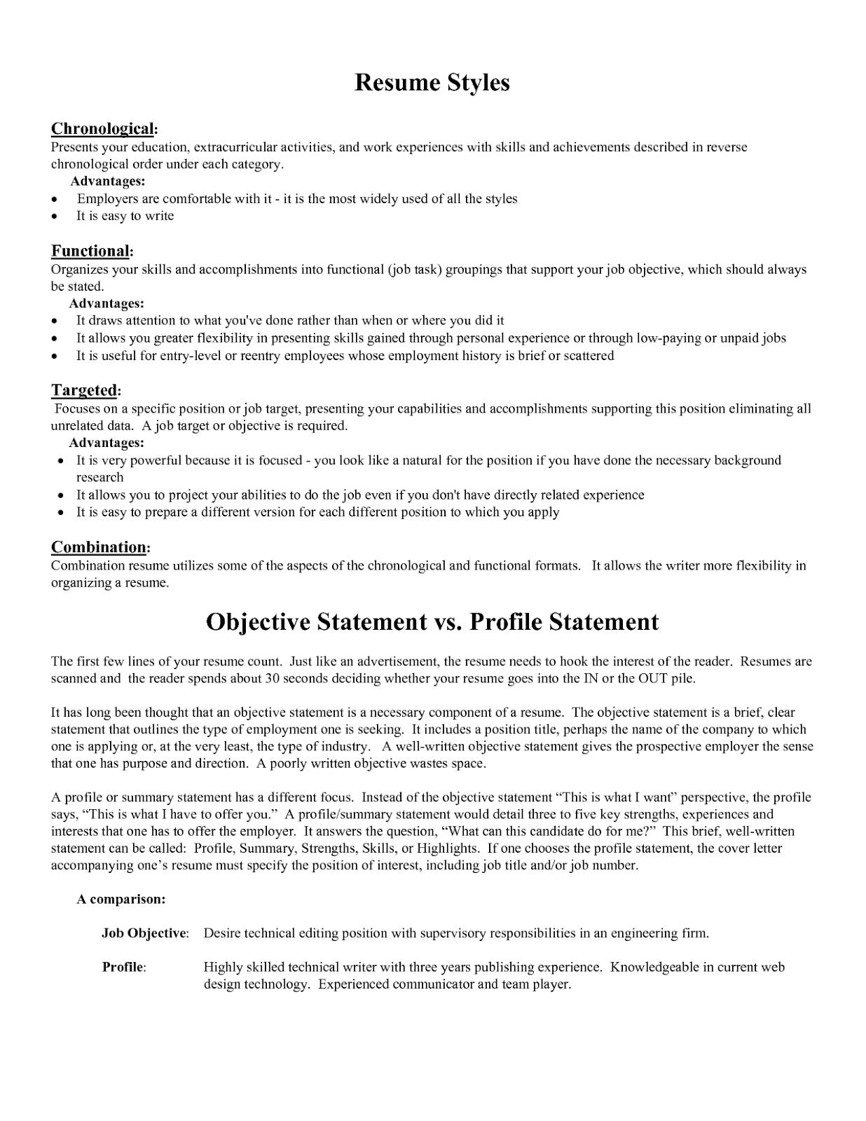 Good Sales Objective Statement For Resume Tipss Und Vorlagen