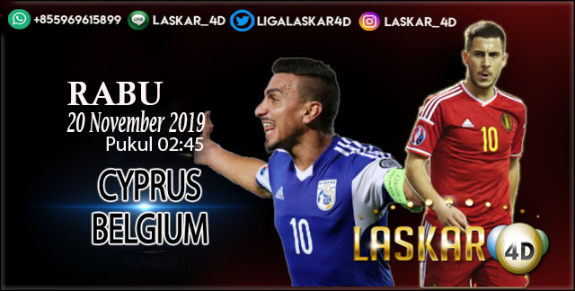 Prediksi Pertandingan Bola Belgia Vs Siprus 20 November 2019