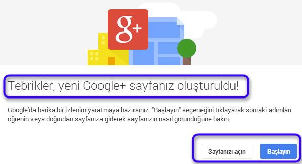 Google+ sayfamızı oluşturduğumuz hakkında bilgi
