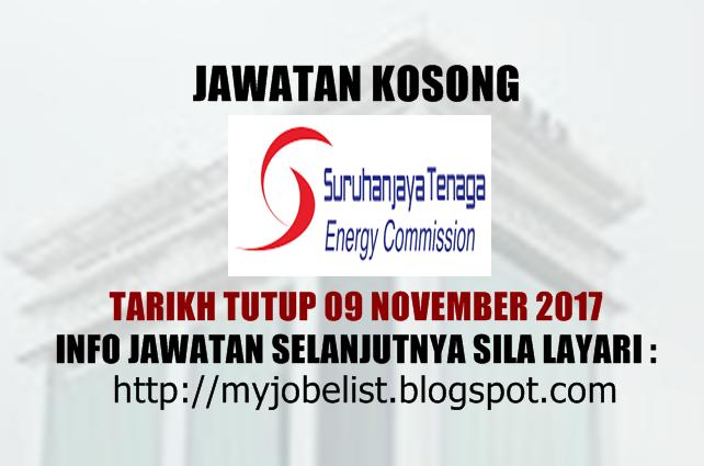 Jawatan Kosong Suruhanjaya Tenaga (ST) November 2017