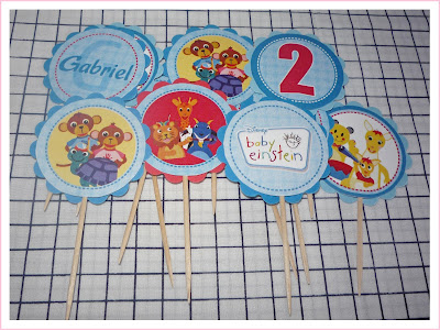 Toppers cupcakes Baby Einstein