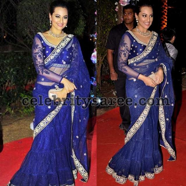 Sonakshi-sinha-blue-lehenga-saree