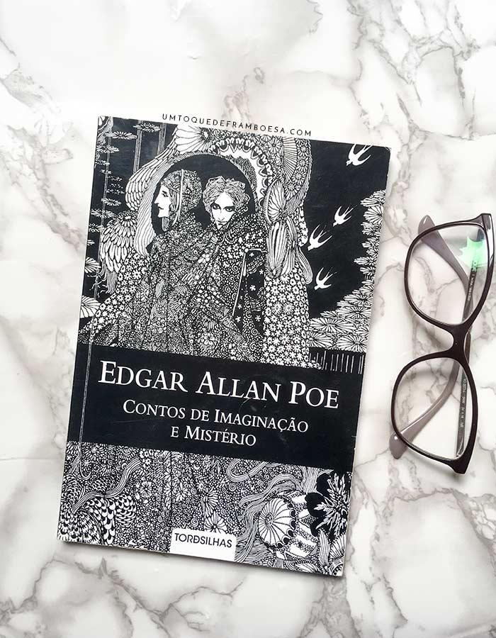 Capa da segunda edição do livro Conto de Imaginação e Mistério, do autor Edgar Allan Poe.