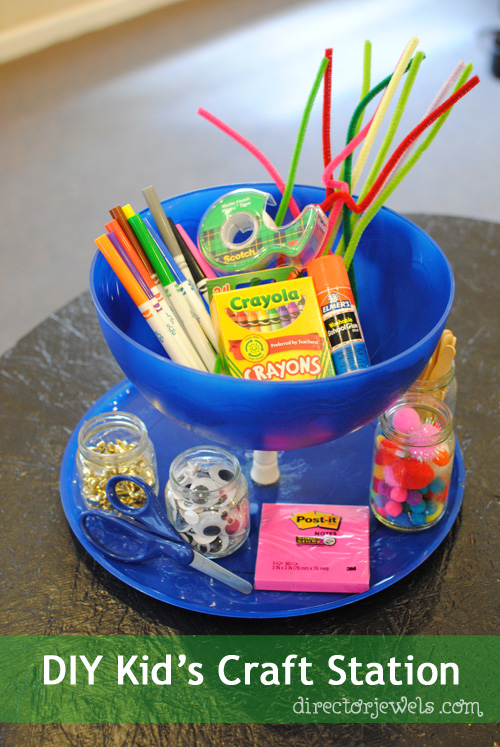 Director Jewels: DIY Kid's Back to School Craft Station