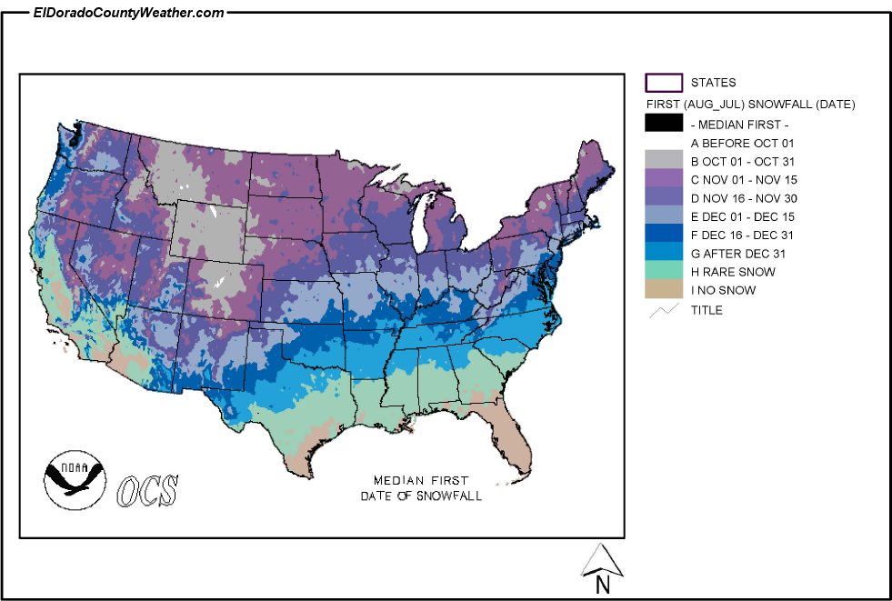 snr climate corner climatology of first snowfall in autumn