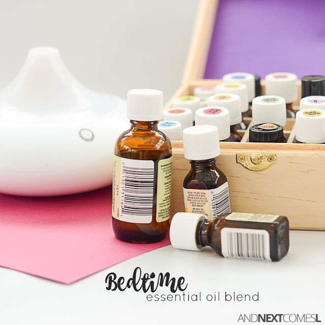 DIY bedtime essential oil blend
