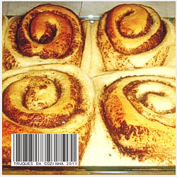 Cinnamon rolls assados prontos
